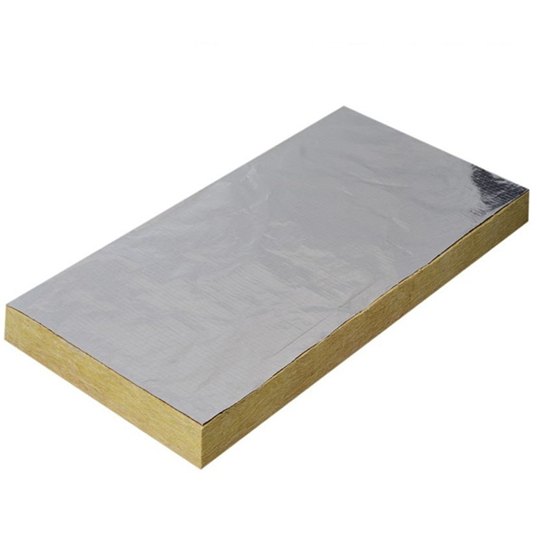Rockwool sheet with foil